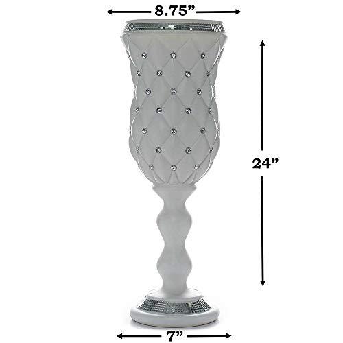 Crystal Bead White Wedding French Columns Mirror Mosaic Deco YSefa by YSefa (Image #2)