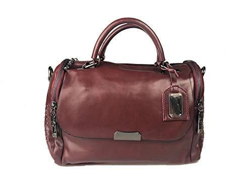 c3d22c607b Modesty Borsa a tracolla in pelle PU rivetto borsa moda boston borsa da  donna per donna