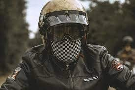 Holy Freedom Coolmax Motorcycle Neck Tube Chequered Flag Design
