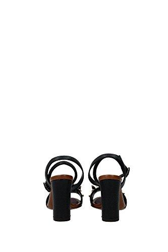 Sandalias de tacón Dolce & Gabbana en piel de becerro negra - Número de modelo: CR0162 AD356 80999 negro