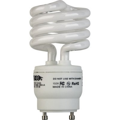 Eiko SP18/27-GU24x50 SP18/27-GU24 18W 2700K GU24 Base spiral Light Bulb (Pack of 50) by Eiko