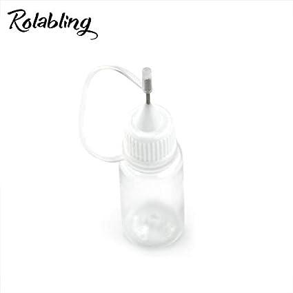 Rolabling - Juego de 10 botes de plástico vacíos para uñas, polvos ...