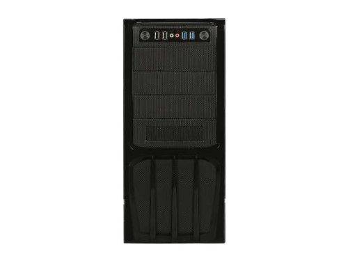 ROSEWILL ATX Mid Tower Computer Case with PSU, Solid Computer Case + 500w power supply, Front I/O: 2x USB 3.0, 2x USB 2.0 and Audio In/Out and 120 mm rear case fan (R536-BK)