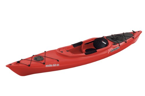 Sun Dolphin Aruba SS Sit-in Kayak (Red, 12-Feet)
