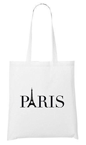 Paris Eifel Logo Bag White