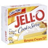 Jell-O Banana Cream Instant Cook & Serve Pudding (4 Pack)