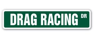 DRAG RACING Street Sign Decal dragster strip racer driver funny cars driver cars ()
