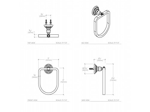 Waterworks RW Atlas Towel Ring in Burnished Brass by Water Works (Image #2)