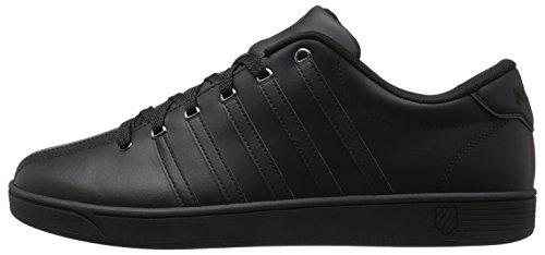 K-Swiss Men's Court PRO II Fashion Sneaker, Black/Gunmetal, 11 M US