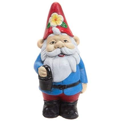 PMS International Mini Garden Gnome Blue