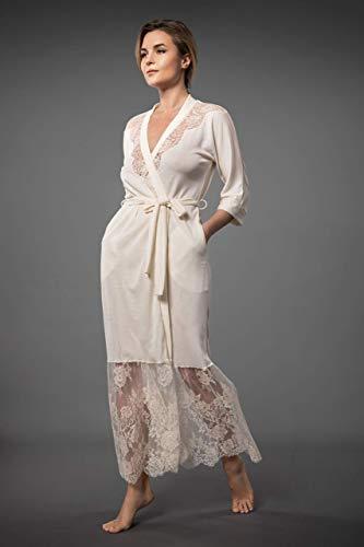 Millesime Bademantel Damen Kurz   Kimono Spitze Kimono Damen Sexy Nachthemd Damen Große Größen Morgenmantel Damen Nachthemd Nachtwäsche Pyjama Bademantel Sexy   Bio-Merinowolle und Seide