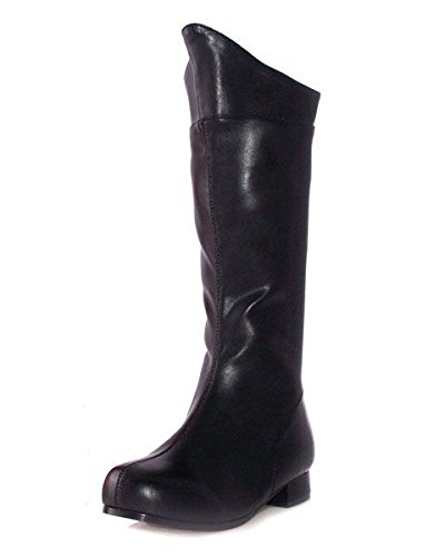 101-SHAZAM Kids Boot Color: Black Pu Size: Large