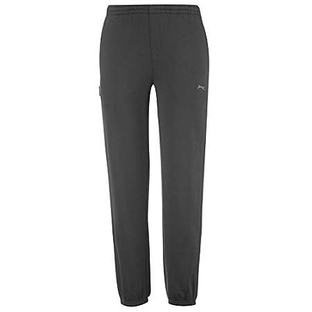 Pasos para niños negro Slazenger Fleece Jogging pantalones de ...