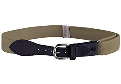 Buyless Fashion Kids Girls Elastic Adjustable Stretch Belt with Leather Closure