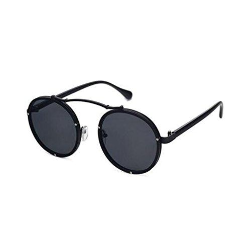 Color De Harajuku 1 Gafas Vintage Playa Moda De Sol Estilo QZ 4 UV Redondo Marco HOME Protección C6Fwqnn8