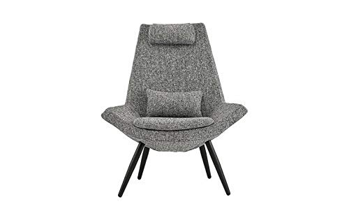 Monowi Modern Fabric Living Room Chair with Head/Back Support Cushions, (Grey) | Model CCNTCHR - 135