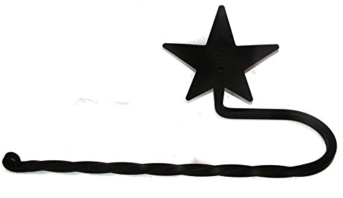 Wrought Iron Paper Towel Bar Holder Star
