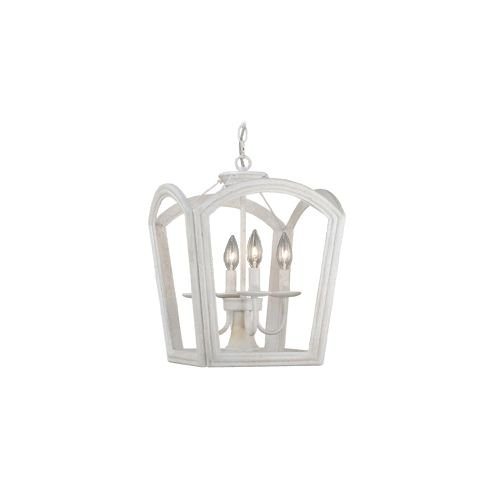 Vaxcel P0033 Canterbury 4 Light Pendant, Antique White Finish