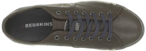 Redskins - Zapatillas de deporte de cuero para hombre Marrón (Marron (Marron Navy))