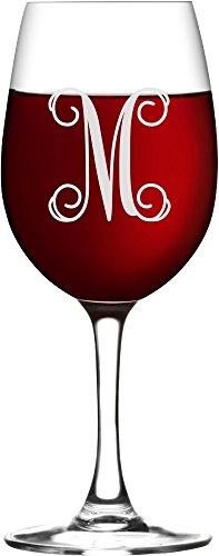 Custom Engraved Script Stemmed Red or White Wine Glass -WG06