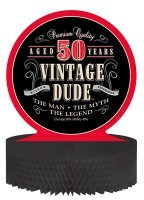 Creative Converting 261567 Vintage Dude - Centerpiece, Honeycomb, 50th - Case of 6