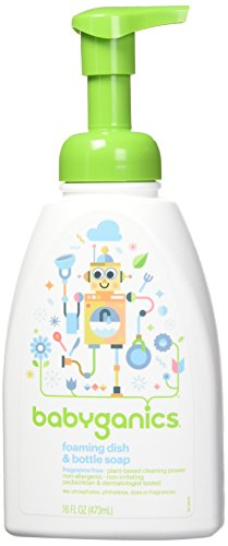 Rinse Free Soap - Babyganics Foaming Dish and Bottle Soap, Fragrance Free, 16oz Pump Bottle (Pack of 3)