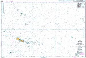 BA Chart 4629: Samoa Islands to Northern Cook Islands and Tokelau