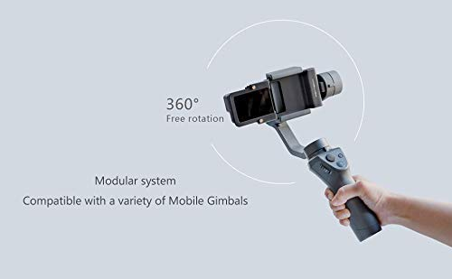 Action Camera Adapter for Mobile Gimbal for DJI OSMO Action/GoPro 3/3+/4/5/6/7 Action Cameras Mounting on DJI OSMO Mobile/OSMO Mobile 2 with Luckybird USB Reader
