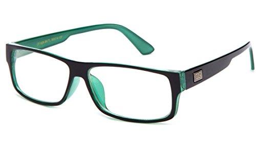 Newbee Fashion - Kayden Retro Unisex Plastic Fashion Clear Lens Glasses