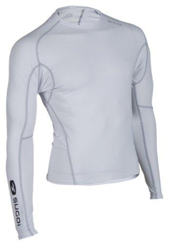 - Sugoi Men's Piston 14 Long Sleeve Base Layer (White, Large)