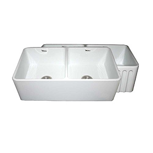 Fireclay Double Bowl Kitchen Sink - 7