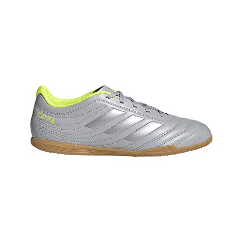 adidas Men's COPA 20.4 IN Football Shoe, Grey two/Matte silver/solar Yellow, 7 Standard US Width US