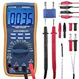 ETEPON Digital Multimeter True RMS 6000 Auto Raging Voltage Tester,Measures Voltage,Current, Resistance,Continuity,Frequency,Capacitance,Temperature,Test Diodes,Transistors WH5000A