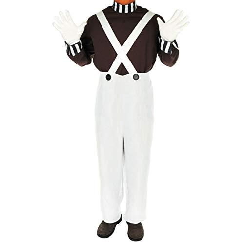 Rimi Hanger Mens Chocolate Factory Worker Costume Adult 70s School Book Week Day Fancy Dress Small