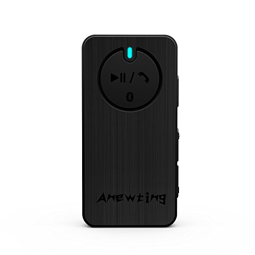 Anewting 3D Wireless Bluetooth External Stereo Sound Adapter for VR iphone, sound converter audio transmission DSP digital audio processing sound box for calls (Black) ()