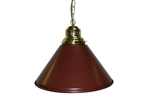 (Game Room - Bar - Billiard - Pool Table Light - Pendant Brass Choose, Green, Black or Burgundy Shade (Burgundy))