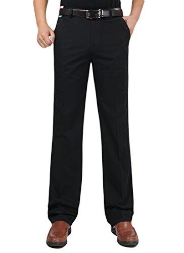 Minghe メンズ チノパン ビジネス ストレート 薄手 綿 ノータック ゆったり スラックス ウォッシャブル 美脚 ロングパンツ ズボン ビジネスパンツ 通勤 大きいサイズ 夏