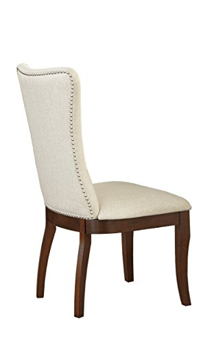 Homelegance Oratorio Two-Pack Upholstered Dining Chairs, Dark Cherry - Homelegance Dining Room Chair