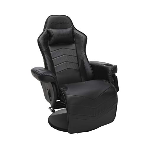 RESPAWN-900 Racing Style Gaming Recliner, Reclining Gaming Chair, in Black (RSP-900-BLK)