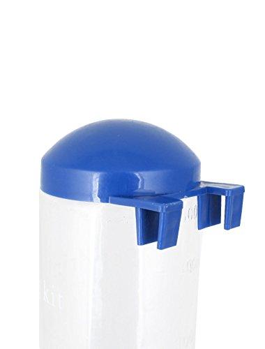 Plastic Cat Print Pet Dog Hanging Bottle Water Feeder 500ml Blue Clear