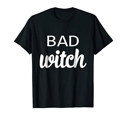 Funny Matching Bad Witch Good Witch Friend Women Girl Tshirt