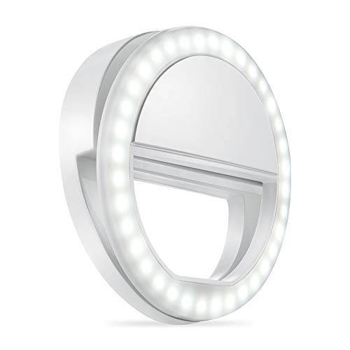 Whellen l184 Selfie Ring Light with 36 LED Bulbs, Flash Lamp Clip Ring Lights Fill-in Lighting Portable for Phone/Tablet/iPad/Laptop Camera - White by Whellen (Image #8)