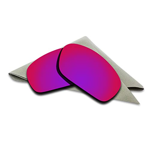 Jawbone Replacement - Purple Red Mirrored Polarized Lenses Replacement for Oakley Jawbone Sunglasses