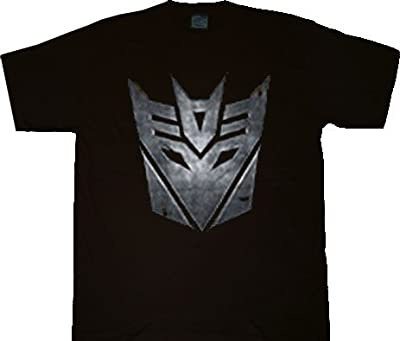 Transformers Mighty Fine Evil Deception Face Black T-shirt Tee