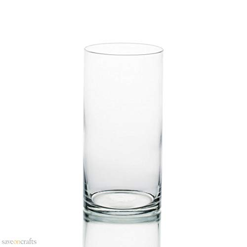 Amazon Wide Cylinder Vase 5 X 10 Set Of 6 Home Kitchen