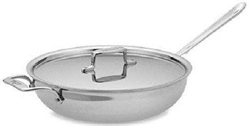 All-Clad 8701004844 Stainless Steel 5-Ply Dishwasher Safe 4 Qt. Essential Pan With Lid