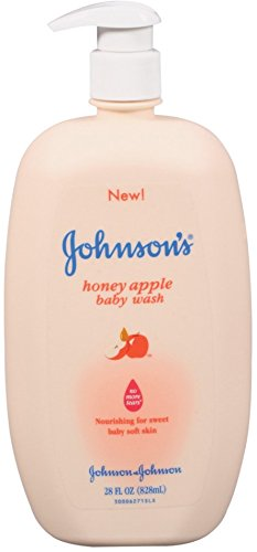 JOHNSON'S Baby Wash Honey Apple 28 oz (8 Pack) by Johnson