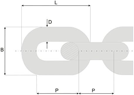 feuerverzinkt Stahlkette stark und robust als volle Spule und st/ückweise erh/ältlich