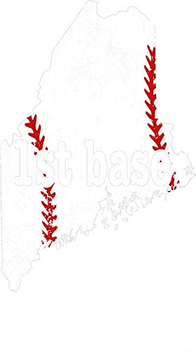 HZ Graphics Fastpitch First Base Youth First Base Maine Tee Ball Vinyl Decal Wall Laptop Bumper Sticker 5