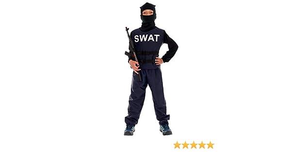 Disfraz de policía para niños Deluxe, uniforme completo SWAT